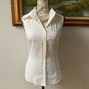 Dolce & Gabbana button down sleeveless blouse
